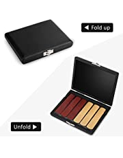 PU Leather Saxophone Clarinet Reed Container Box Case with Slots for 6pcs Reeds Black Cover