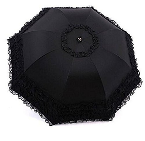Wendin Travel Umbrella olding UV Resistance Princess Lace Parasol Umbrella Sun Umbrella For Women Girls by Wendin (Image #2)
