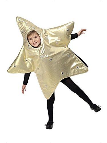 Smiffys Children's Christmas Star Costume, Tabard, Ages 4-6,