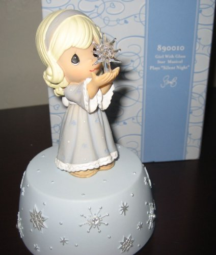 Precious Moments - Girl With Glass Star #890010 Large Musical Figurine