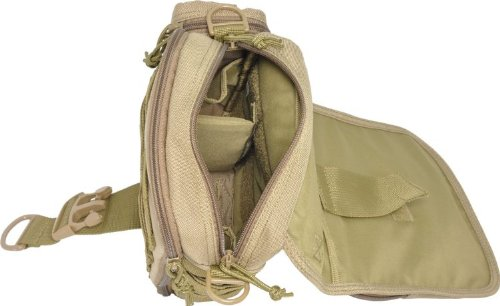 Hazard 4 Tonto Concealed Carry Mini-Messenger - Black Marrón (Coyote Tan)