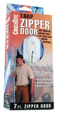 Cinch Tite Tarp Zipper Door Plastic Boxed by Homax Corporation