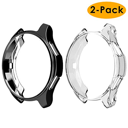 EZCO Compatible Samsung Galaxy Watch 46mm / Gear S3 Case, Soft TPU Plated Case Protector Bumper Compatible Samsung Gear S3 Frontier/Classic Galaxy Watch 46mm SM-R800 Smartwatch