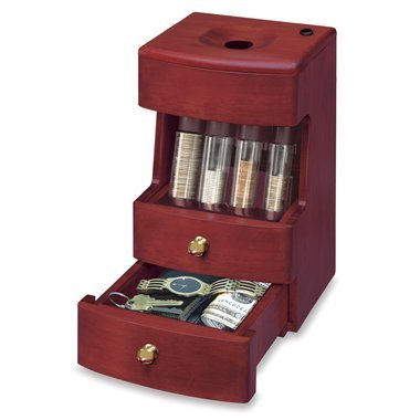 Deluxe Caddy Valet Solid Wood Motorized Coin - Deluxe Valet Tray
