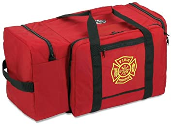 Ergodyne Arsenal 5005P Large Polyester Firefighter Rescue Turnout Fire Gear Bag with Shoulder Strap and Helmet Pocket