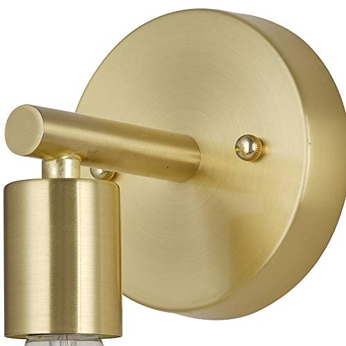 Rivet Modern Wall Sconce with Bulb, 9.13''H, Satin Brass by Rivet (Image #5)