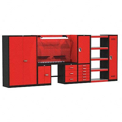 (Fort Knox Complete Modular Steel Top Workbench Size: 78