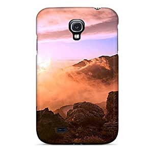 For Galaxy S4 Premium Tpu Case Cover Hill Top Beauty During Sunset Protective Case