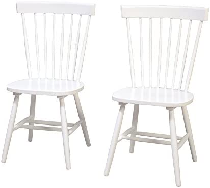 Target Marketing Systems Venice Set of 2 Dining Chairs, White