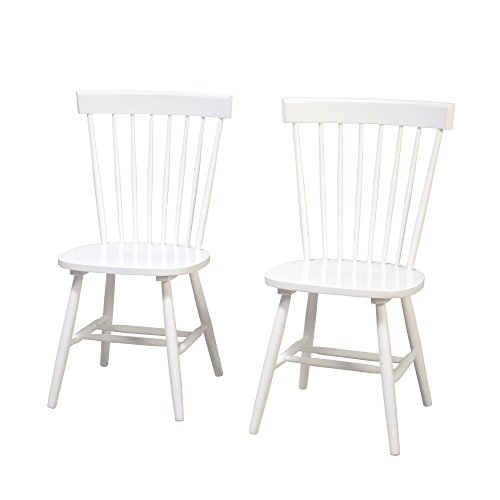 (Target Marketing Systems 64918WHT PR Venice Set of 2 Dining Chairs, White)
