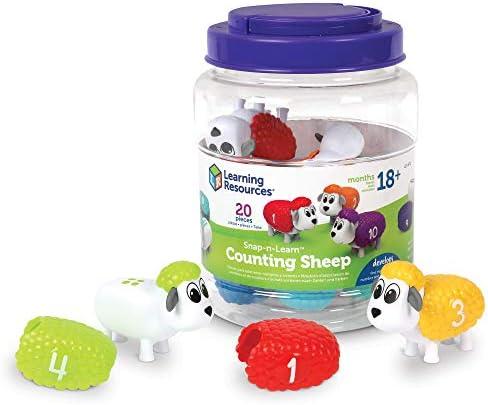 [해외]Learning Resources Snap-n-Learn 카운팅 양 미세 모터 카운팅 및 분류 장난감 부활절 바구니 장난감 18세 + / Learning Resources Snap-n-Learn 카운팅 양 미세 모터 카운팅 및 분류 장난감 부활절 바구니 장난감 18세 +