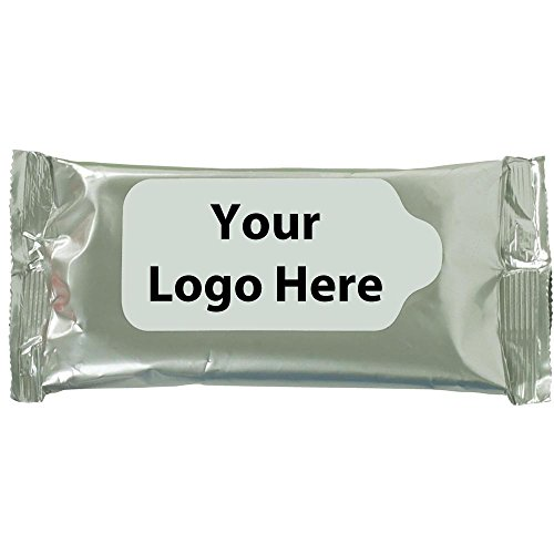 Pouch Wipes Antibacterial Wet Wipes - 200 Quantity - $1.25 Each - PROMOTIONAL PRODUCT/BULK/Branded with YOUR - Clothing Promotional Customized
