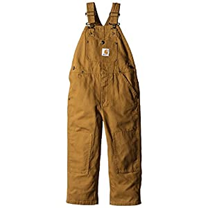 Carhartt Boys' Bib Overalls (Lined and Unlined)