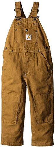(Carhartt Boys' Toddler Bib Overall, Brown, 3T)