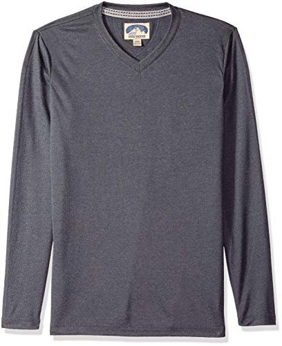 Dakota Grizzly Men's Long Sleeve Brushed Fabric V-Neck Shirt (X-Large, Ash)