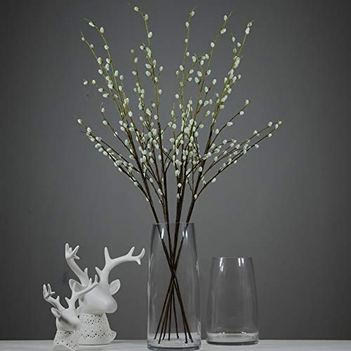 Rinlong 6pcs Artificial Pussy Willow Branches 37