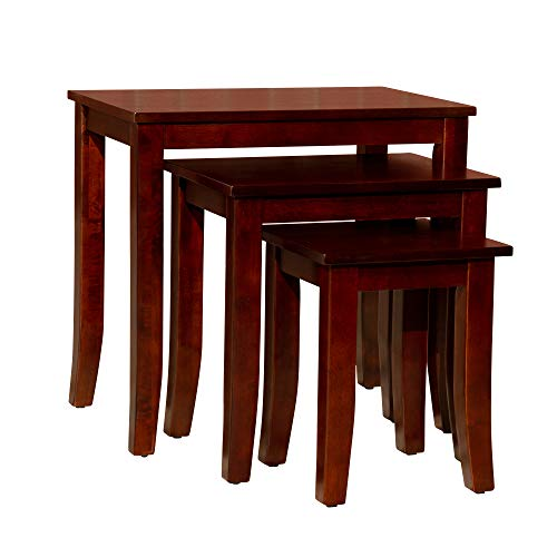 Golden 3-Piece Nesting Tables DTY Indoor Living Furniture Collection - Cherry