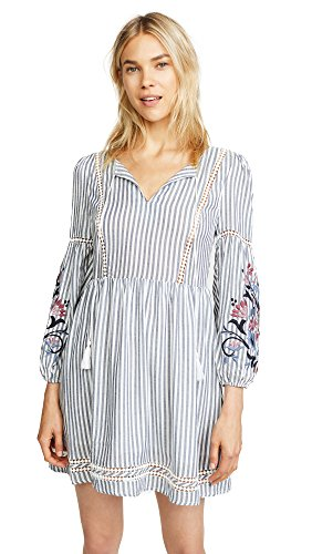 cupcakes and cashmere Women's Macaria Peasant Shift Dress, Ink, ()