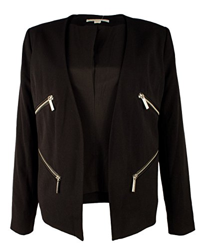 (Michael Kors Women's Zip Trim Open Blazer Jacket-B-4)