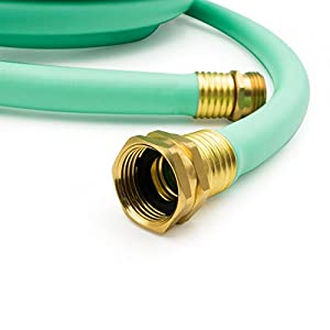 AUTOMAN 50 ft, 5/8 In ID, Flexible Hybrid Garden Hose/Water Hose,Drinking water safe,Brass Connectors, Kink Free Construction,Lightweight,Abrasion Resistant,70 PSI,Blue Color,ATMG0258050
