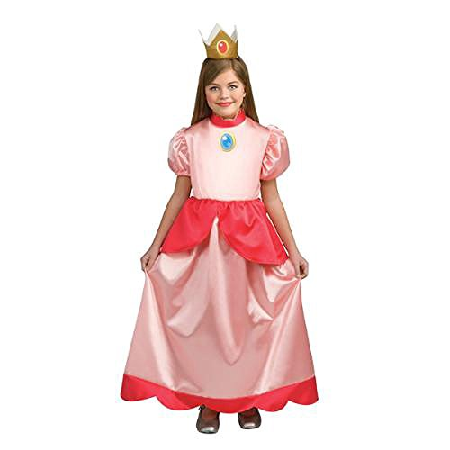 Super Mario Brothers Princess Peach Costume Child Toddler Large (Princess Peach Costume Toddler)