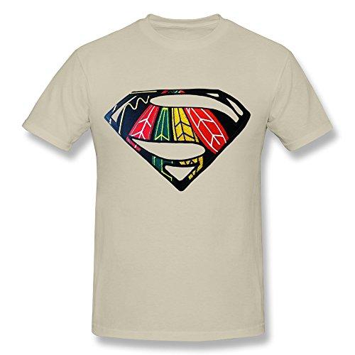 - Tea Time Men's Tshirts Chicago Blackhawks Eagle Feather Superman S Natural Size XS