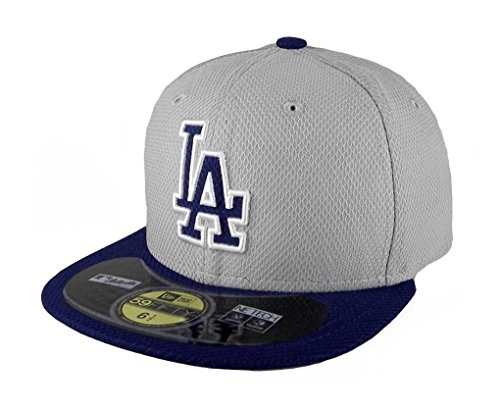 New Era Los Angeles Dodgers Dia Era Gray/blue Youth's/kids Hat Cap Mlb 59fifty Fitted (6 1/2)