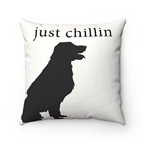 Just Chillin Dog Square Pillowcase Patio Furniture Pottery
