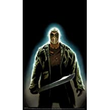 """WOWindow Posters Jason Voorhees Friday the 13th Halloween Window Decoration includes 34.5""""x60"""" Backlit Poster"""