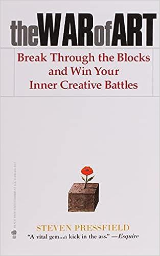 The War of Art por Steven Pressfield   10 livros para aumentar a criatividade