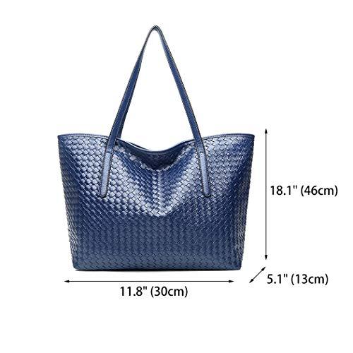 de y bolsos DEERWORD hombro Mujer mano bandolera y Azul Shoppers de Carteras Bolsos clutches ttZxzqfPw