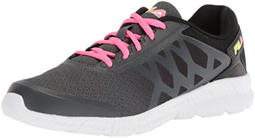 Fila Womens Memory Faction 4 Hardloopschoenen Dark Shadow / Knockout Pink / Safety Yellow