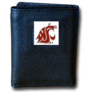 NCAA Washington State Cougars Leather Tri-Fold Wallet