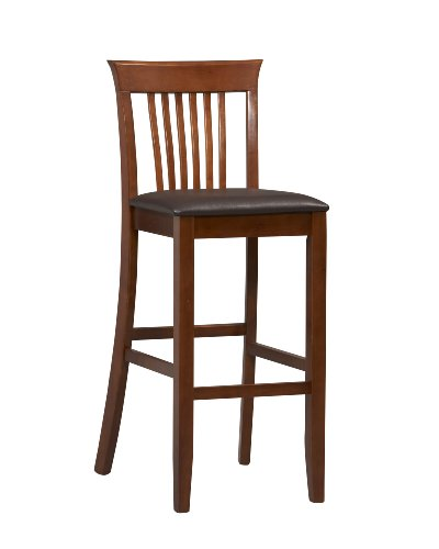 wood bar stools with backs - 2