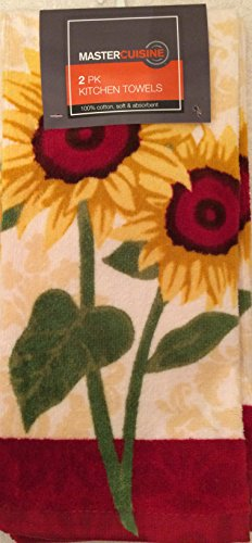Mastercuisine 2pk Kitchen Towels-Sunflowers