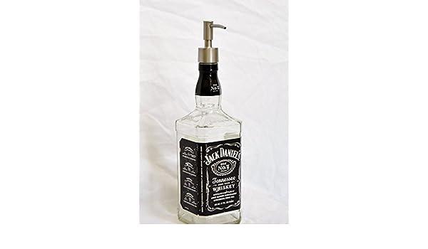 Jack Daniels Whisky Licor botella Repurposed jabón o loción dispensador de 750 ml: Amazon.es: Hogar