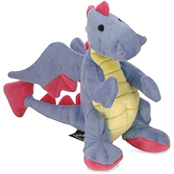 goDog Dragons Periwinkle Dog Toy with Chew Guard Technology, Large