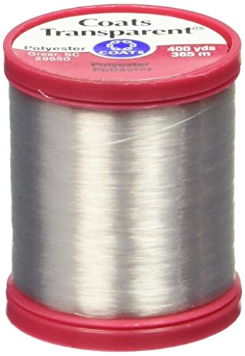ers S995-9900 Transparent Polyester Thread, 400 Yard, Clear (Bead Stringing Thread)