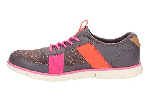 Clarks  Tri Mavis Jnr, Chaussures de ville à lacets pour fille gris gris