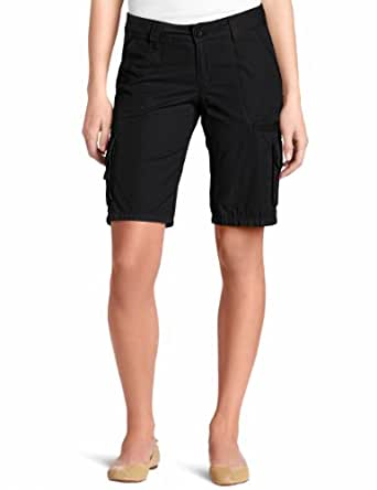 Dickies Women's 11 Inch Relaxed Cargo Short, Black, 4