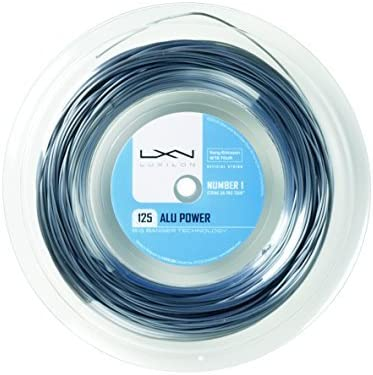 Luxilon ALU Power 125 16L 銀 tennis string (330 foot, 100M reel)