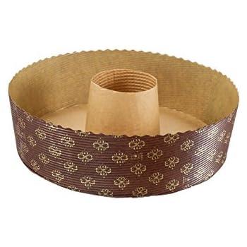 Amazon Com 12 Pc Paper Tube Bundt Pan 8 1 2 Quot Brown And