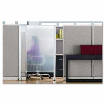 Quartet Products - Quartet - Premium Workstation Privacy Screen, 38w x 65h, Translucent Clear - Sold As 1 Each - Transform modular office spaces into productive, distraction-free work areas. - Ultra-lightweight, translucent plastic screen open and close t by Quartet