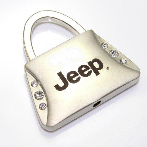 Au-Tomotive Gold Jeep Clear Crystals Purse Shape Key Chain INC