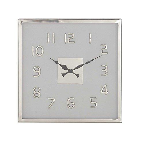 (Deco 79 43540 Wall Clock, Black/Silver/White)