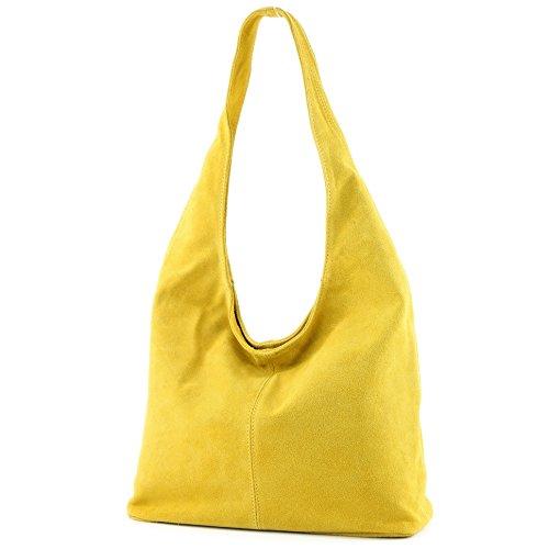 bandoulière cuir Gelb en Sac Modamoda Damentasche de Wildleder T150 Sac à ital à bandoulière xYwqcSCaI