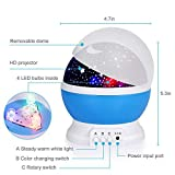 Adoric 361 Night Lamp, Star Light Rotating Projector, 4 LED Bulbs 8 Modes for Children Kids Bedroom (3.2FT USB Cord)