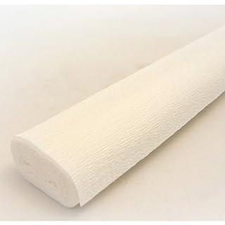 Carta crespa rotolo 50 cm x 2,5 m di alta qualità italiana per lavori in carta (tutti i colori) Cream