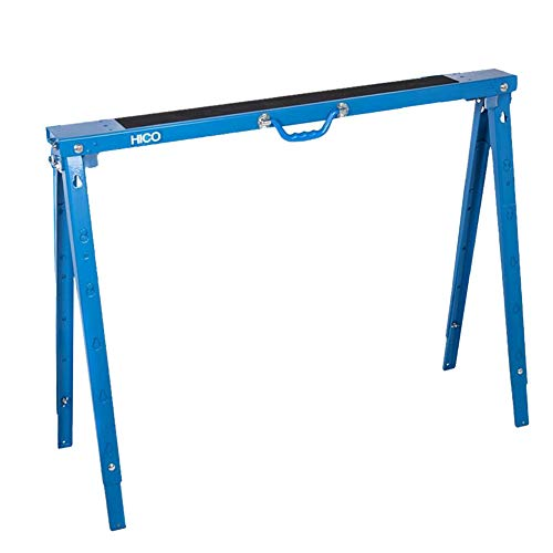 HICO Sawhorse Folding Legs Portable Metal Heavy Duty - Adjustable 5 Heights Single Pack, 1200 lb Weight Capacity Each(1 Pack)
