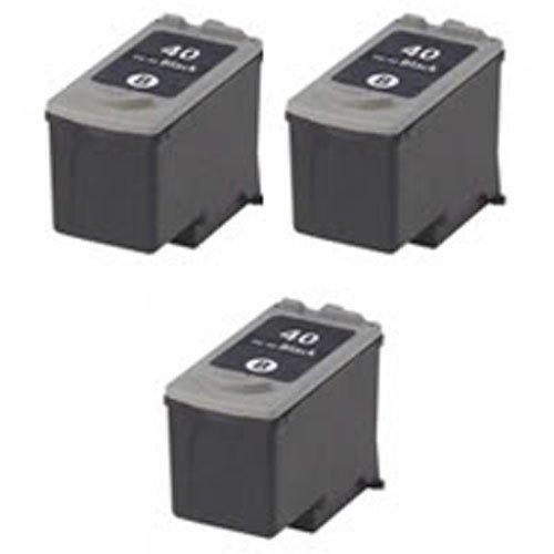 Amsahr PG-40 Canon PG-40, JX200, JX210P Remanufactured Replacement Cartridges 3-Pack, Black Ultimate Approach Inc. DBA Amsahr